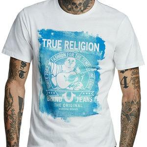 True Religion Men's Painted Buddha Fashion Tee